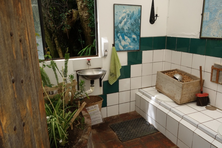 A compost toilet in an ecolodge