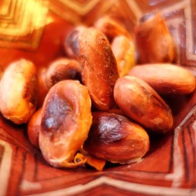 Self processed cacao beans