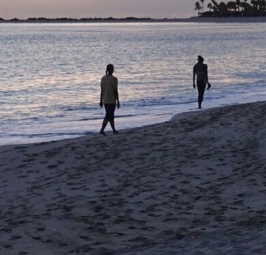 Walking meditation at 6.00 am