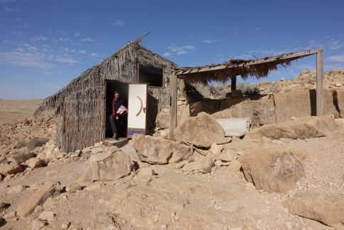 Succah in the desert, Mitzpe Ramon, Israel