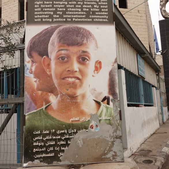 Aida refugee camp, Bethlehem, Palestine area